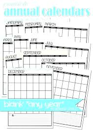 Yearly Birthday Calendar Template Annual Free Student Budget Planner ...