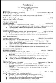 Career Center Curriculum Vitae Sample
