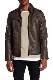 image of indigo star faux leather jacket