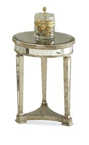 silver round end table mirrored round end table antique mirror amp silver leaf silver table number holders
