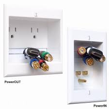 powerbridge in wall dual power and cable management kit for wall mounted hdtv two ck the home depot