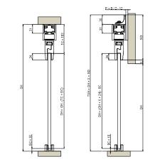 evolve automatic sliding door gear glass door cross section