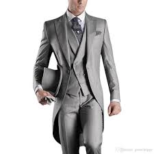 Light Grey And Burgundy Suit Us 60 58 29 Off Custom Design White Black Grey Light Grey Purple Burgundy Blue Tailcoat Men Party Groomsmen Suits In Wedding Tuxedos Jacket Pant In