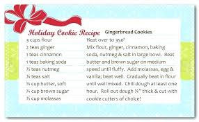 Christmas Recipe Cards Template Cookie Exchange Recipe Card Template Riversidetown Info