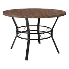 tremont 45 round dining table in distressed driftwood finish hs d03003tr 5001