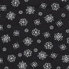 black and white snowflake pattern.  Black BlackWhite Snowflake Cotton Print Jersey Knit Fabric For Black And White Pattern A