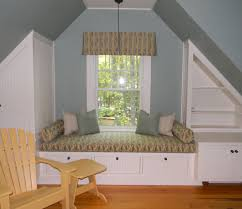 Small Seats For Bedroom Spacious Bay Windows Design With White Wooden Windows Seats