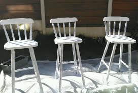 3 shabby chic wooden bar stools tall chairs