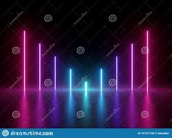 3d Render Abstract Minimal Background Glowing Lines Chart