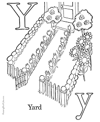 Small Picture ABC coloring pages Letter Y 030