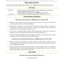 Medical Receptionist Resume Sample Monster Com In | Good Cover ...