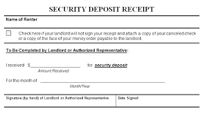 How Landlord Receipt Form To Write A Rent Samples Rental