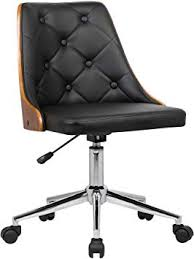 Armen <b>Living Diamond</b> Office <b>Chair</b> in Black Faux Leather <b>and</b> ...