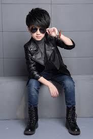 baby boys leather jacket kids girls and coats spring kids leather jackets boys casual black solid