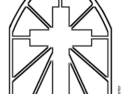 44 Stained Glass Cross Coloring Page Stained Glass Cross Coloring