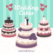 Wedding Cakes Illustration Vector Free Download