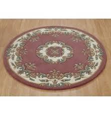 round pink rug. Mahal Round - Rose Pink Rug