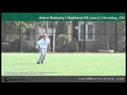 Adam Bialosky (OF) | Highland HS (2012) | Hinckley, OH - YouTube