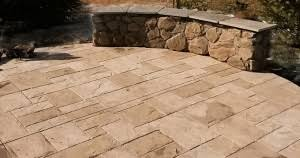 Patterned Concrete Extraordinary Slate Patterned Concrete Deck My Site