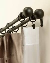 image of double curtain rods ikea