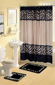 modest marvelous bathroom rug and towel sets safari animal print 17 pieces bath rug shower curtains