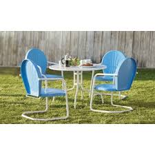 White patio furniture Contemporary Quickview Wayfair White Patio Dining Sets Youll Love Wayfair