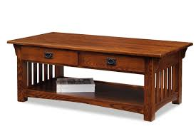Coffee Table With Drawers Leick 8204 Mission Coffee Table With Drawers And Shelf Medium