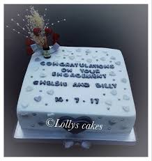 Lollys Cakes On Twitter Lolly42laura A Simple Square Engagement