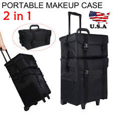 lightirror australia 2 in 1 professional nylon makeup cosmetic rolling trolley case organizer studio