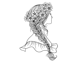 Drawing Coloring Book Braid Royalty Free Coloring Pages 600470