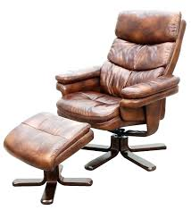 leather swivel recliner chair with matching footstool best choice s footrest stool ottoman hereford cha