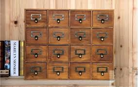 wood storage drawers lattice desktop drawer storage box wooden retro creative storage cabinet living room decoration wood storage