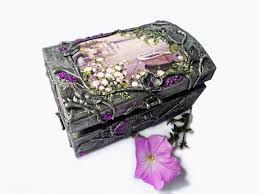 Jewelry Box Decorating Ideas Hand decorated jewelry boxes with decoupage and one stroke 3