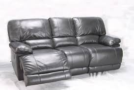 grey leather recliner. Chic Grey Leather Reclining Sofa Liam Dark Recliner With Decorations 5 L