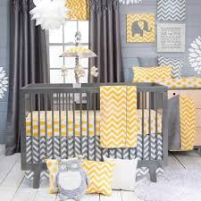 grey and white chevron baby bedding idea