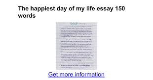 the happiest day of my life essay words google docs
