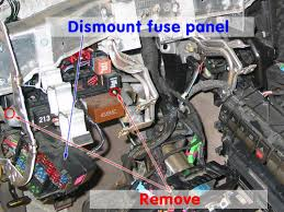 audi area audi a4 b5 heater core swap also remove the 2 bolts and pop the fuse panel out of the dash support