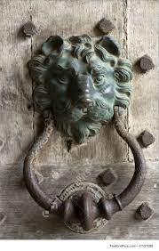 Architectural Details: Lion Head Door Knocker - Stock Picture ...