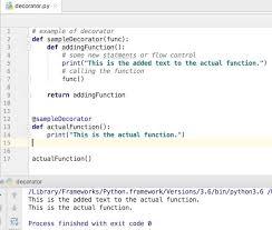 Decorator Design Pattern Python Mesmerizing Python Decorator Example JournalDev
