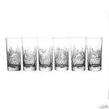 crystal engraved long drink glasses set of 6 loading zoom
