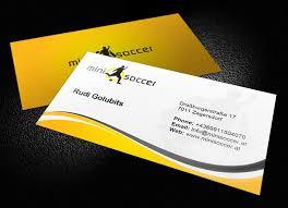 Soccer Business Card Mini Soccer Business Card Logoneed