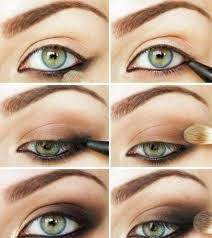 how to do makeup green eyes based on hair color