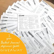 3 Year Anniversary Of The Free Bullet Journal Reference Guide