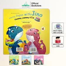 Sách - Học tiếng anh cùng Jino nhiều chủ đề cho bé từ 3-8 tuổi (Bộ 4 quyển)  - NPH Đinh Tị
