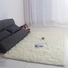 carpet floor bedroom. Anti Skiding Fluffy Rugs Carpets For Living Room Shaggy Ivory Wool Rug Skid Carpet Floor Bedroom Soft Mat Kids Room-in From Home