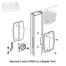 non handed plastic latch pull handle set with steel latch for sliding screen door black
