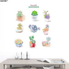 Amazoncom Bibitime Beautiful Succulents Plants Wall Decal Quotes