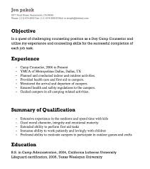 Camp Counselor Resume Inspiration Resume For Camp Counselor Kenicandlecomfortzone