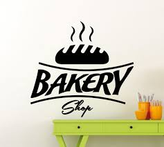 Bakery Shop Logo Vinyl Wall Sticker High Quality Bread Kitchen Wall