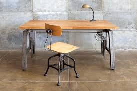 industrial home office desk. Desk At Home Industrial Office With Adjustable Height Cabinets L